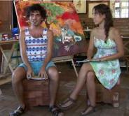 Habib e Valeria no programa noBALAIO da TV Pernambuco